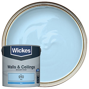 Wickes Colour @ Home Vinyl Matt Emulsion Paint- Sky 2.5L