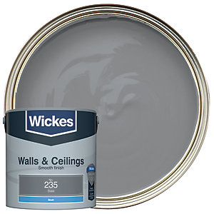 Wickes Colour @ Home Vinyl Matt Emulsion Paint- Slate 2.5L