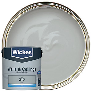 Wickes Colour @ Home Vinyl Matt Emulsion Paint- Steel 2.5L