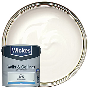 Wickes Colour @ Home Vinyl Matt Emulsion Paint- Victorian White 2.5L