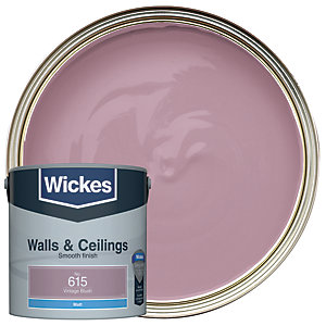 Wickes Colour @ Home Vinyl Matt Emulsion Paint Vintage Blush 2.5L
