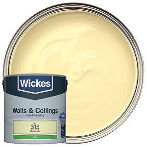 Wickes Colour @ Home Vinyl Silk Emulsion Paint- Buttermilk 2.5L