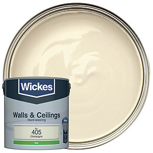 Wickes Colour @ Home Vinyl Silk Emulsion Paint- Champagne 2.5L