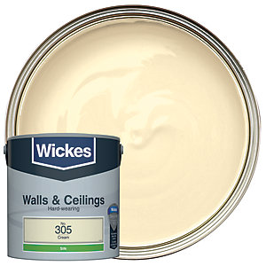 Wickes Colour @ Home Vinyl Silk Emulsion Paint- Cream 2.5L