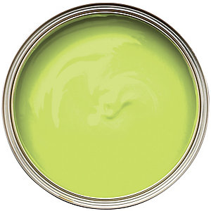 Wickes Colour @ Home Vinyl Silk Emulsion Paint Lime 2.5L