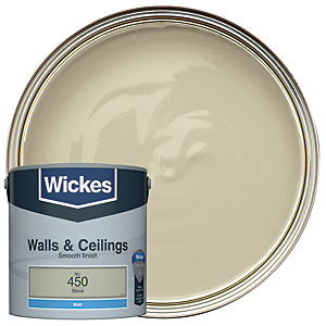 Wickes Colour @ Home Vinyl Matt Emulsion Paint- Stone 2.5L
