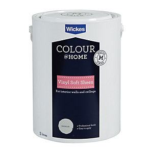 Wickes Colour @ Home Vinyl Soft Sheen Emulsion Paint Magnolia 5L