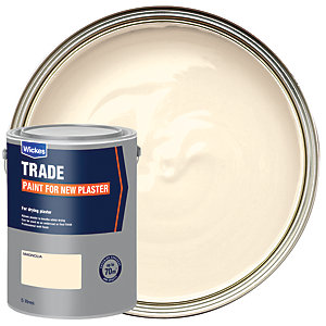 Wickes Colour @ Home Paint For New Plaster Emulsion- Magnolia 5L