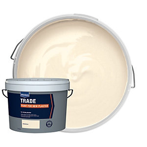 Wickes Trade Paint for New Plaster Emulsion Magnolia 10L
