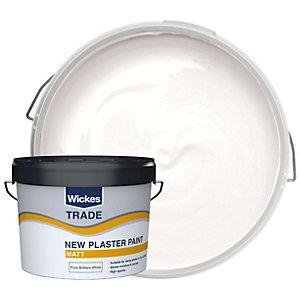 Wickes Trade Paint for New Plaster Emulsion White 10L