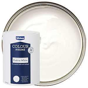 Wickes Colour @ Home Pink To White Emulsion Paint- 5L