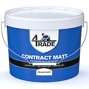 4Trade Trade Contract Matt Emulsion Paint Brilliant White 15L