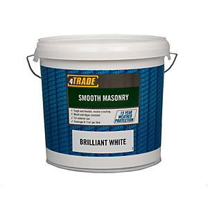 4Trade Paint Smooth Masonry Brilliant White 10L