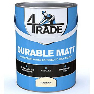 4TRADE Vinyl Matt Emulsion High Traffic Paint Magnolia 5L