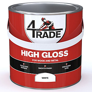 4Trade Gloss Paint Brilliant White 2.5L