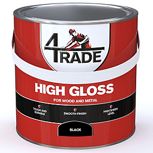 4Trade Gloss Paint Black 2.5L