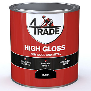4Trade Gloss Paint Black 1L