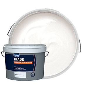Wickes Trade Emulsion Paint for New Plaster White 15L