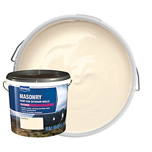 Wickes Textured Masonry Paint Magnolia 5L