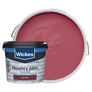 Wickes Textured Masonry Paint Brick Red 5l Deal At Wickes