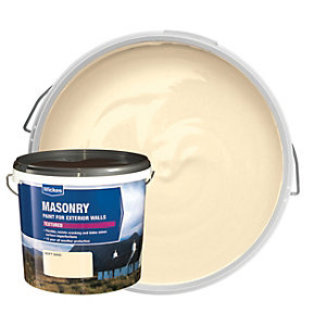 Wickes Textured Masonry Paint Soft Sand 5L