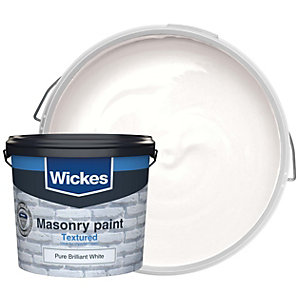Wickes Textured Masonry Paint White 5L