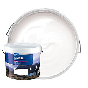 Wickes Textured Masonry Paint White 10L