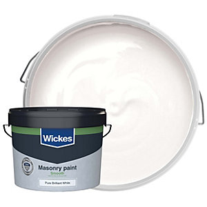 Wickes Smooth Masonry Paint White 10L