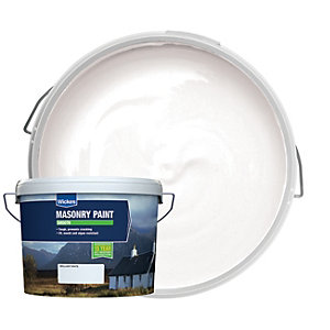Wickes Smooth Masonry Paint White 15L