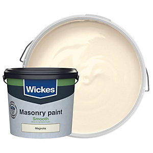 Wickes Smooth Masonry Paint Magnolia 5L