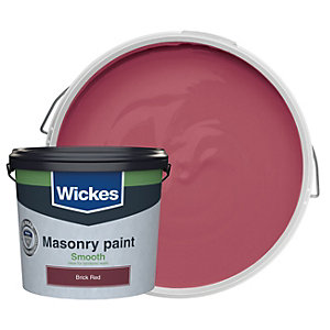 Wickes Smooth Masonry Paint Brick Red 5L