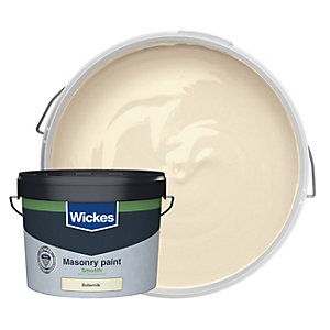 Wickes Smooth Masonry Paint Buttermilk 10L