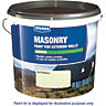 Wickes Smooth Masonry Paint Magnolia 15L