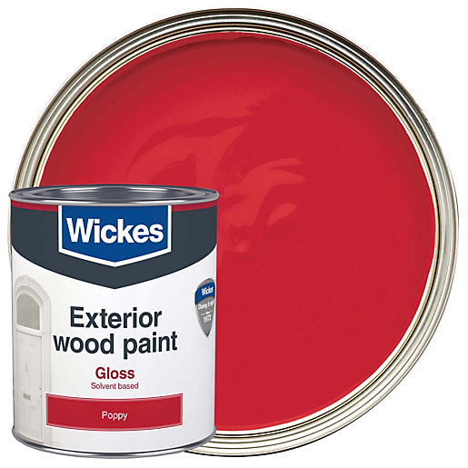 Wickes exterior gloss paint poppy 750ml - Wickes exterior gloss paint set ...