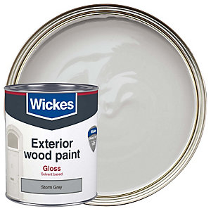 Wickes exterior gloss paint storm grey 750ml - Wickes exterior gloss paint set ...