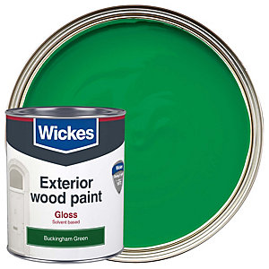 Wickes Exterior Gloss Paint Buckingham Green 750ml