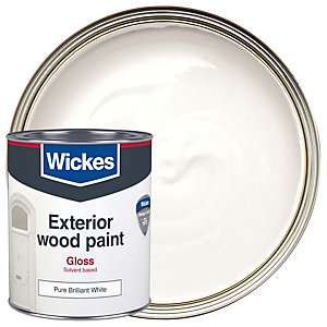 Wickes Exterior Gloss Paint White 750ml