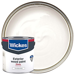 Wickes Exterior Gloss Paint White 2.5L