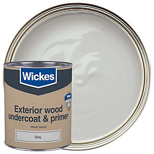 Wickes Exterior Primer Undercoat Paint Dark Grey 750ml
