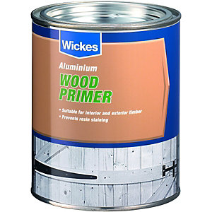Wickes Wood Primer Paint Aluminium 750ml