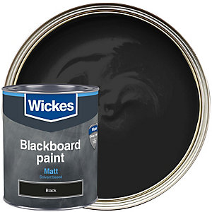 Wickes Blackboard Matt Black Paint 750ml