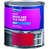 Wickes Exterior Brick & Tile Paint Matt Red 2.5L
