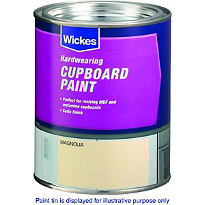 Wickes Cupboard Paint Magnolia 750ml