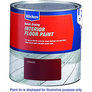 Wickes Interior Floor Paint Black 2.5L