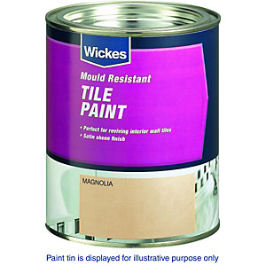Wickes Tile Paint Magnolia Satin 750ml