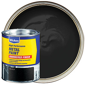 Wickes Metal Paint Hammered Black 750ml