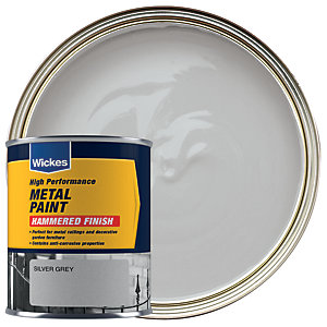 Wickes Metal Paint Hammered Grey 750ml