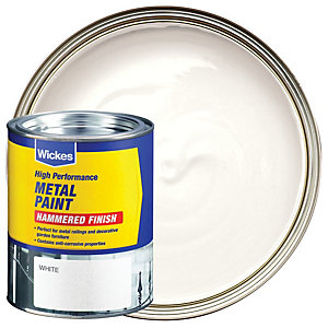 Wickes Metal Paint Hammered White 750ml