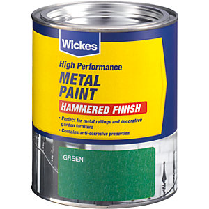 Wickes Metal Paint Hammered Green 750ml