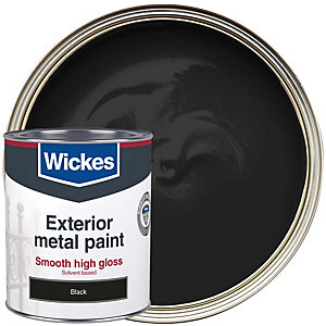 Wickes Metal Paint High Gloss Black 750ml